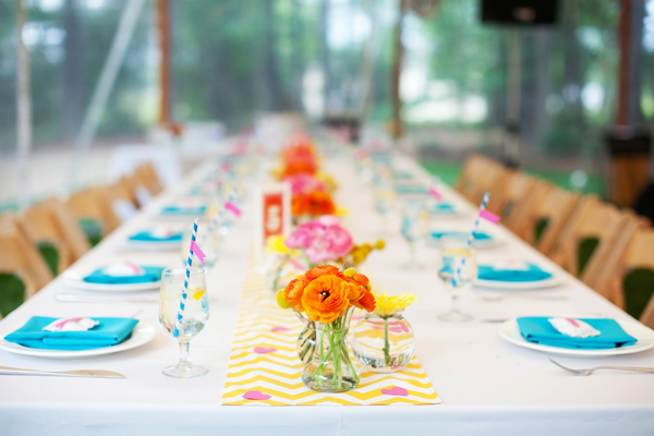Southern weddings colorful table