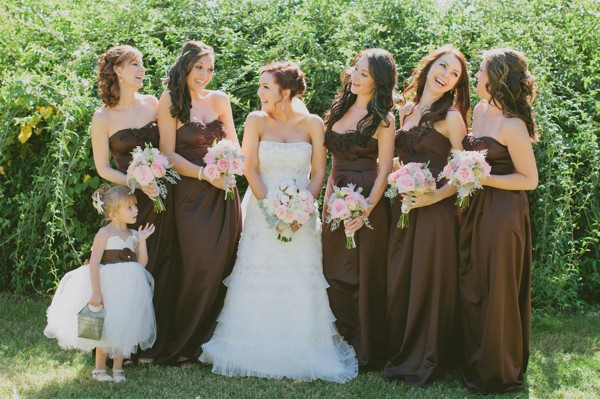 Facebook it for Brown dresses for a wedding
