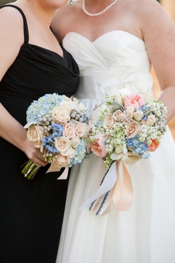 Wedding Bouquet Pink Blue : Facebook it