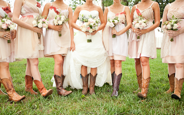 Wedding Dress With Red Cowboy Boots - Mother Of The Bride Dresses