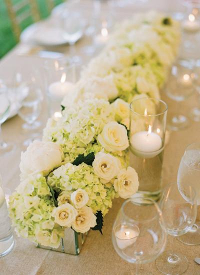 rectangular tables wedding