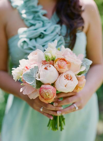 Peach Garden Rose Bouquet Flowers Gallery
