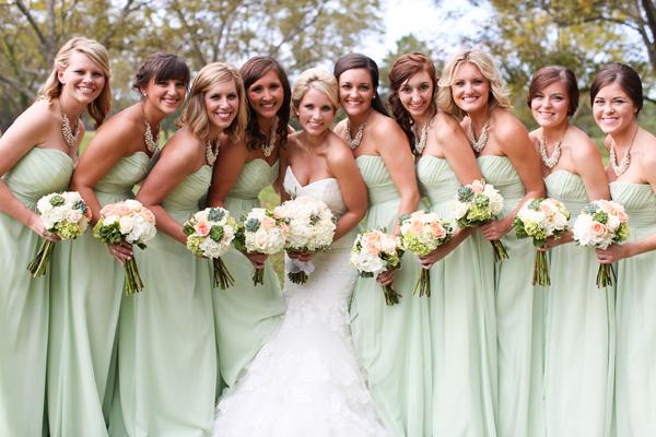 Facebook it for Light green wedding dress