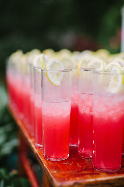 You have your beer on tap and bottles of wine to boot—but you still need some spirits for your wedding reception. Avoid a line at the bar by choosing a big-batch cocktail for your signature drink that can simply be poured and served for your guests.