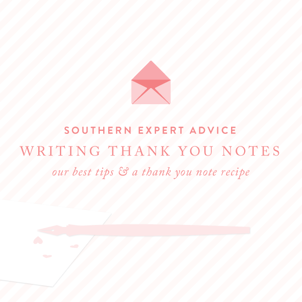 Southern Expert: Writing Wedding Thank You Notes