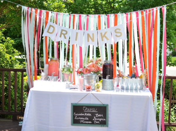 Save for Backyard engagement party decoration ideas