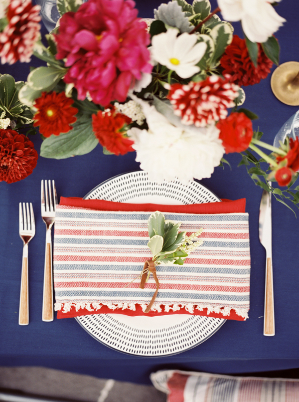 Southern Wedding Red White Blue