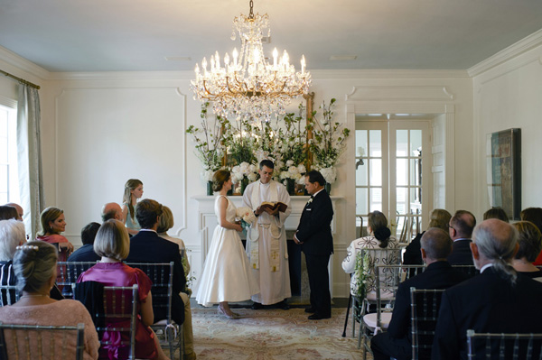 southern wedding at home