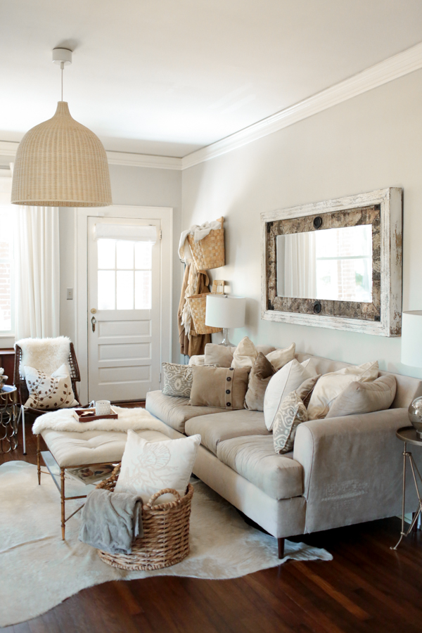 Best use of neutrals landon and jordan s south carolina for Neutral living room design
