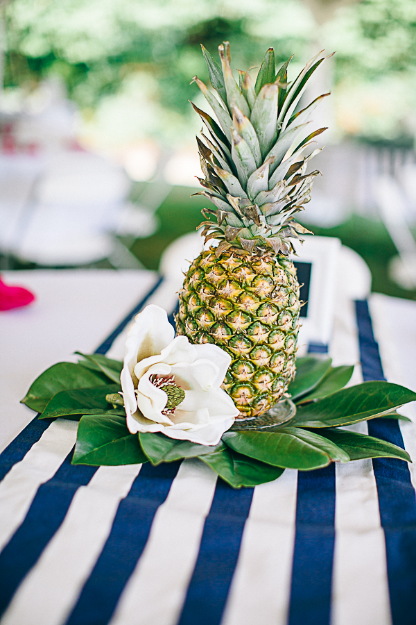 Jennifer And Justin s Pineapple Centerpieces By Nikki