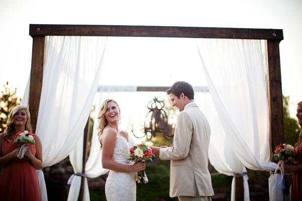 A Modern White Wedding Ceremony: Facebook It