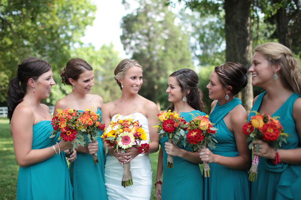 Turquoise And Yellow Wedding Ideas: Facebook It