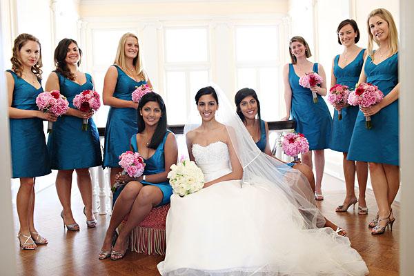 Turquoise Fuchsia Wedding: Facebook It