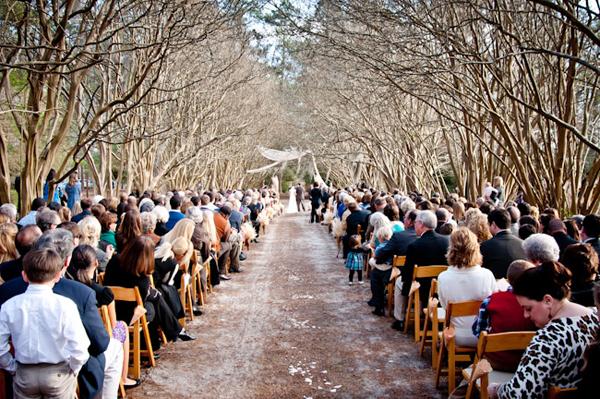 Outdoor Woods Wedding Ceremony: Facebook It